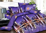 Качественный семейный комплект постельного белья ночной Нью Йорк