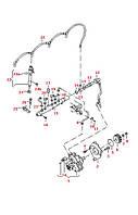 Труба напорной линии  VWLT 2.8TDi  2002>---  3-Цыл