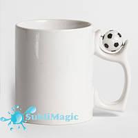 Чашка сублимационная с футбольным мячиком
