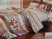 Сатиновое постельное белье полуторка ELWAY 3779