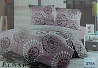 Сатиновое постельное белье полуторка ELWAY 3768