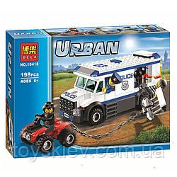 Конструктор Bela серия Urban 10418 Перевозчик заключённого (аналог Lego City 60043)