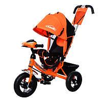 Трехколесный велосипед TILLY Camaro, свет, фара. Оранжевый
