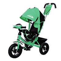 Трехколесный велосипед TILLY Camaro, свет, фара. Зеленый