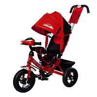 Трехколесный велосипед TILLY Camaro, свет, фара. Красный