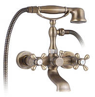 Смеситель для ванны с двумя рукоятками Kaiser Carlson Style 44223-2 Античная бронза