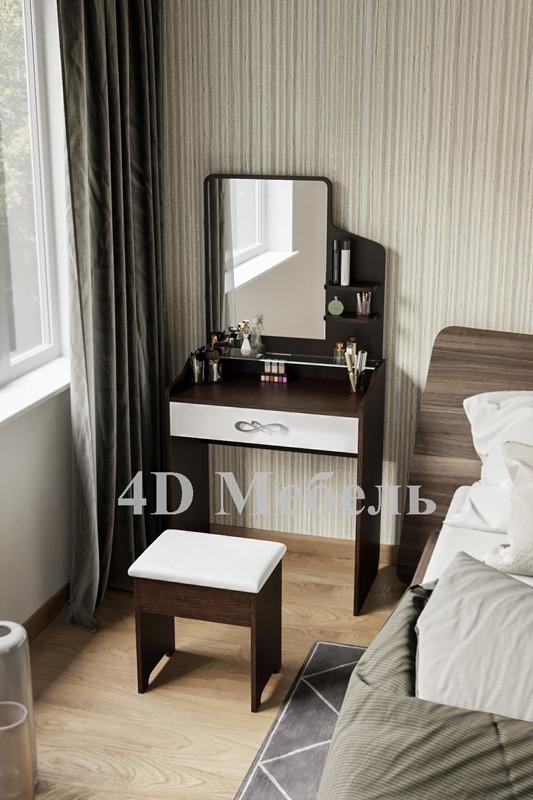 Небольшой будуарный столик с зеркалом и полочками, модель BS-103, производитель UGO-mebel