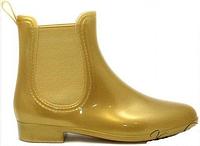 Стильные резиновые ботинки золотистого цвета AB001 GOLD