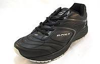 Кроссовки мужские BONA  кожаные черные (Бона)(р.41,42,43,44)