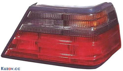 Стекло заднего фонаря Mercedes E-Class W124 84-96 правое, седан, красно-дымч. (DEPO) 00-440-1910REDR