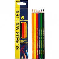 Карандаши цветные 4100 /6 ЦВЕТОВ MARCO SUPERB WRITER / олівці кольорові марко