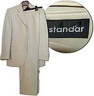 Standar Классический костюм - тройка для мужчин, светло-бежевый, 176/88/80, полушерсть