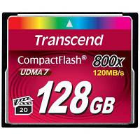 Карта памяти Transcend 128 GB 800X CompactFlash Card (TS128GCF800)