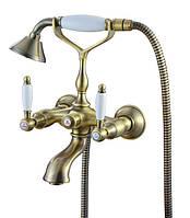 Смеситель для ванны с двумя рукоятками KAISER Vincent 31044 Bronze