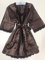 Комплект пеньюар халат  под пояс