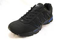 Кроссовки мужские BONA  кожаные черно-синие (Бона)(р.42,43,46)