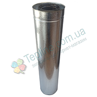 Труба-сэндвич для дымохода d 300 мм; 0,5 мм; AISI 304; 1 метр; нержавейка/оцинковка - «Версия-Люкс»