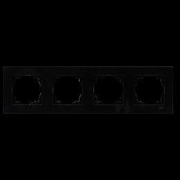 Рамка 4-местная горизонтальная Gunsan Moderna Metallic черный, фото 2