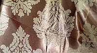 Ткань для штор  блэкаут  Корона двусторонняя молочный+крем
