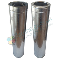 Труба-сэндвич для дымохода d 110 мм; 1 мм; AISI 304; 1 метр; нержавейка/оцинковка - «Версия-Люкс»