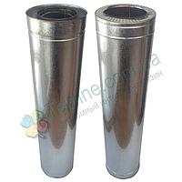 Труба-сэндвич для дымохода d 125 мм; 1 мм; AISI 304; 1 метр; нержавейка/оцинковка - «Версия-Люкс»