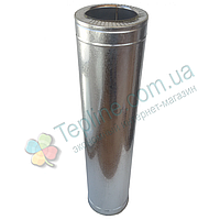 Труба-сэндвич для дымохода d 130 мм; 1 мм; AISI 304; 1 метр; нержавейка/оцинковка - «Версия-Люкс»