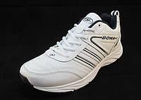 Кроссовки мужские BONA  кожаные белые (Бона)(р.41,42,43,44,45,46)
