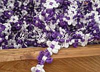 Тесьма цветочная фиолетовая с белым ширина 13 мм
