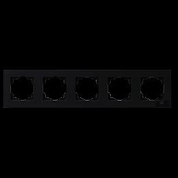 Рамка 5-местная горизонтальная Gunsan Moderna Metallic черный, фото 2
