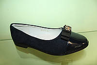 Замшевые синие туфли для девочки