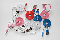 Кабель-дата microUSB-USB плоский