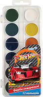 Краски акварельные Хот Вилс (Hot Wheels) 12 цветов