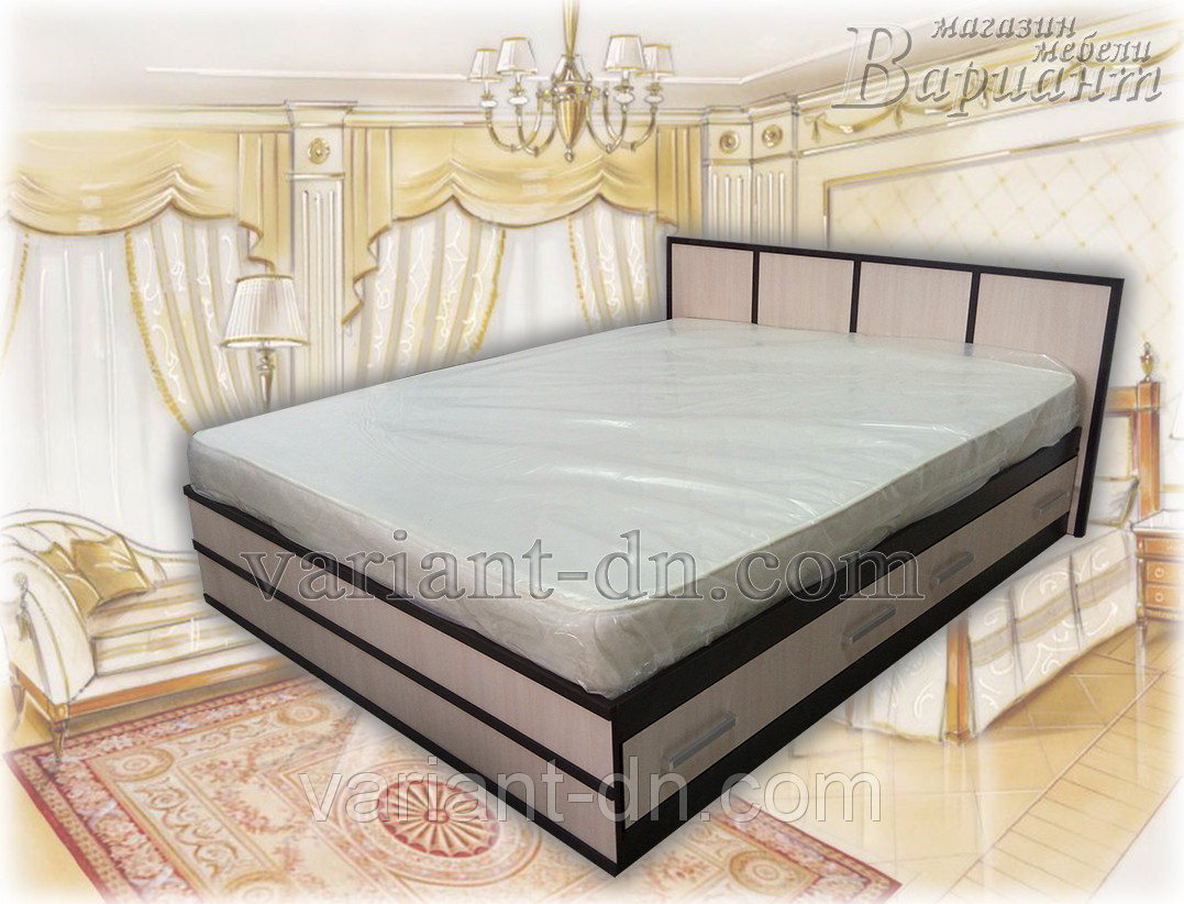 Кровать с ящиками Сакура 160х200см