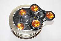 Спиннер Spinner железный Янтарные камни BOX