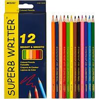 Карандаши цветные 4100 /12 ЦВЕТОВ MARCO SUPERB WRITER (олівці кольорові марко односторонні 12 кольорів)