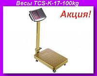 Весы электронные торговые 100кг с усиленной платформой 30х40см TCS-K-17-100kgh!Акция