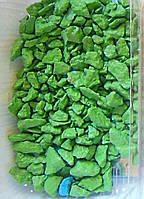 Цветная крошка  для ландшафтного дизайна салатовая