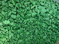 Цветная крошка  для ландшафтного дизайна зеленая изумрудная