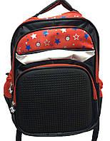 Рюкзак для девочки школа в комплекте рисунок с мазаикой