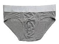 Мужские трусы слипы (плавки) Calvin Klein Steel модал серые