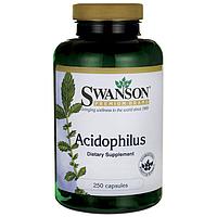 Swanson Premium Acidophilus  ацидофильные лактобактерии 1 млд ЕД в каждой капс  250 капс