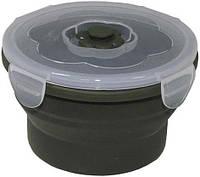 Ланчбокс 540мл круглый складной тёмно-зелёный MFH 33414