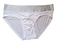 Мужские трусы слипы (плавки)  Calvin Klein серия Steel модал белые