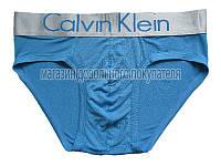 Мужские трусы слипы (плавки)  Calvin Klein серия Steel модал голубые