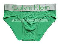 Мужские трусы слипы (плавки)  Calvin Klein серия Steel модал зелёные