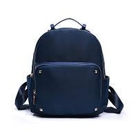 Рюкзак женский синий с заклепками