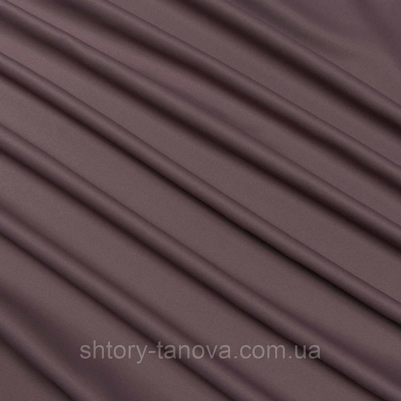 Декор блекаут коричневый