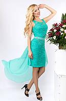 Женское платье LP 680 бирюза
