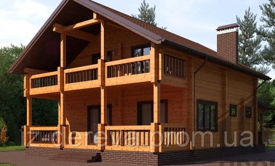 Дом из профилированного бруса семейный - ДеревоДомик в Закарпатской области