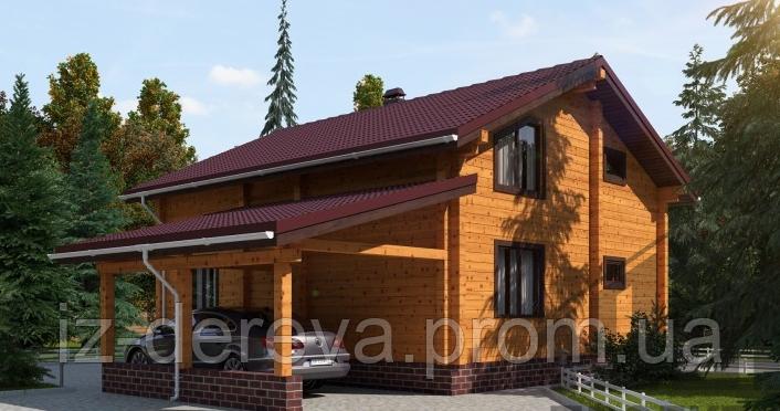 Дом из профилированного бруса семейный - Брус-Дом в Закарпатской области
